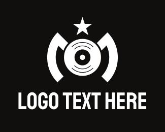 M - Disc Star Letter M logo design