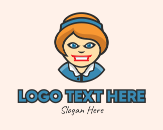 Angry - Angry Lady Mascot logo design