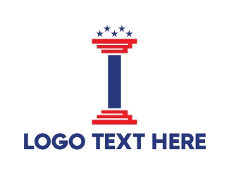 Usa - USA Pillar logo design