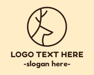 Cave - Minimalist Deer logo design