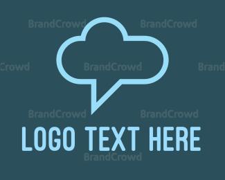 Social - Chat Cloud logo design