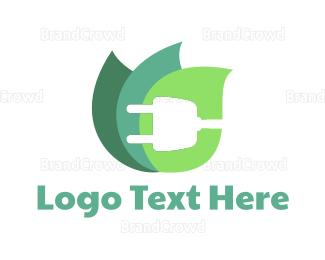 Eco Energy - Eco Plug logo design