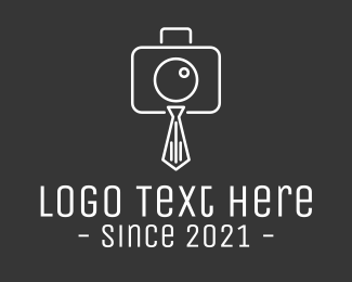 Photo Booth - Photography Necktie logo design