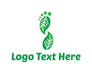 Feet - Leaf Foot logo design