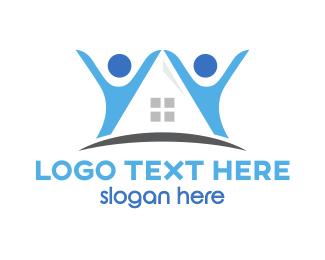 Family Planning - Blue Partner House logo design