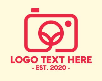 Camera Repair - Minimalist Red Photography Camera logo design
