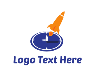 Rocket - Rocket Clock logo design