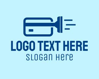 Credit - Cleaning Credit Card  logo design