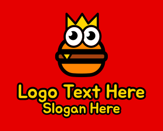 Tasty - Burger King Mascot logo design