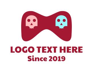 Unisex - Unisex Skull Gaming logo design