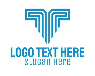 Letter - Letter T Technology logo design