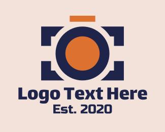 Vlogger - Photography Camera logo design