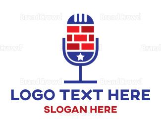 Commentator - Brick Podcast logo design