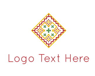 Ceramic - Pink & Orange Tile logo design