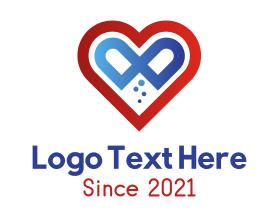 Heart Capsule Medication Logo
