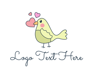 Valentines - Love Bird logo design
