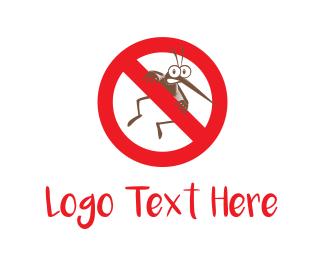 Mosquito - No Mosquito logo design