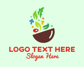 Veggie - Healthy Food Restaurant Bowl logo design