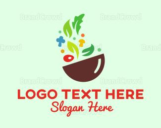 Bowl - Vegetable Bowl logo design