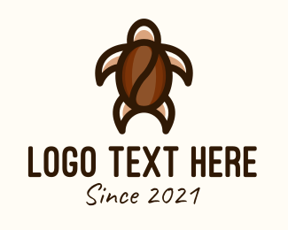 Brown Turtle - Brown Turtle Coffee Bean logo design