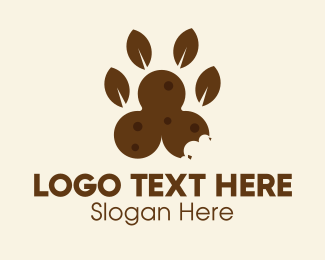 Foot - Natural Dog Food  logo design