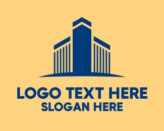 Architecture - Blue Architectural Building logo design
