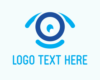 Smiling - Blue Webcam logo design