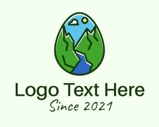 Hills - Nature Park Egg logo design