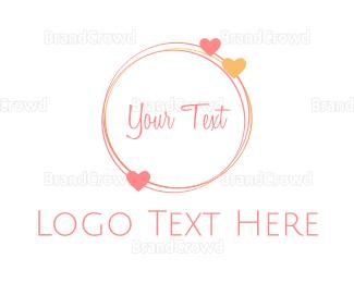 Bride - Love  Circle logo design