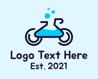 Chemical - Bike Chemical Lab  logo design