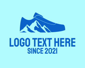 Hiking - Mountain Hiking Shoe logo design