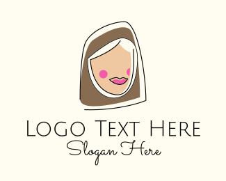 Saudi Arabia - Muslim Woman Head logo design