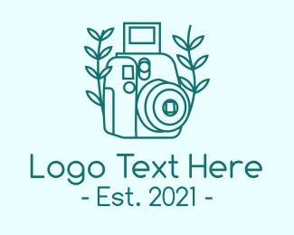 Photograph - Organic Photographer Camera logo design