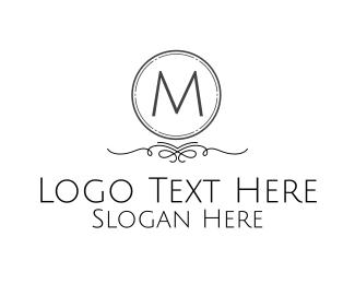 Classic - Monochromatic Classical Lettermark logo design