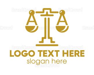 Equilibrium - Gold Tech Scale logo design
