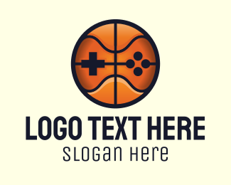 Joypad - Basketball Video Game Console logo design