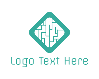 Labyrinth - Diamond Maze logo design