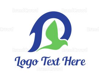 Belief - Blue Green Dove logo design