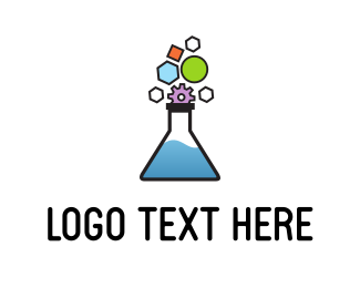 Test Tube - Gear Lab logo design