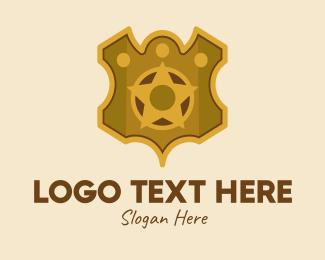 Cop - Gold Star Insignia  logo design