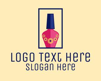 Nail Polish - Floral Nail Polish logo design