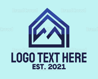 Broker - Blue Mountain House logo design