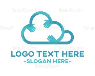 """Cloud & Hands"" by logomanlt"