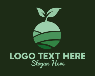 Leaf - Organic Plant Seeding logo design