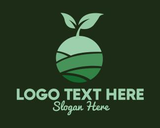 Pea - Organic Plant Seeding logo design