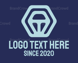 Cryptic - Hexagon Steering Wheel logo design