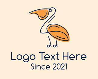 Conservatory - Pelican Monoline  logo design