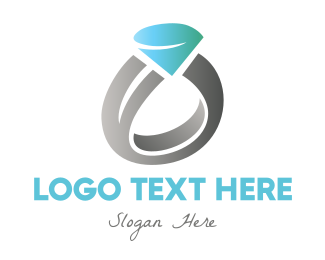 Wedding Ring - Diamond Wedding Ring logo design