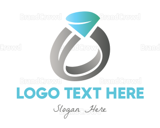 Ring - Diamond Wedding Ring logo design