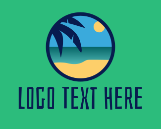 Tiki Bar - Tropical Coastal Beach logo design